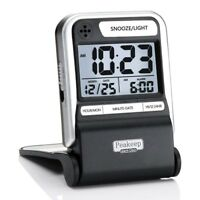 Small Digital Clock Travel Alarm Battery Operated Compact With Snooze And Light