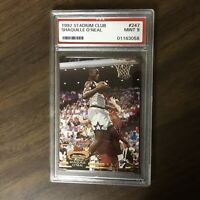 1992 STADIUM CLUB #247 SHAQUILLE O'NEAL ROOKIE CARD PSA 9 MINT GREAT INVESTMENT