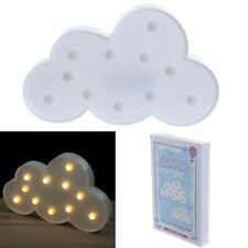 Cute 3D LED Night Light Cloud Wall Mount Kids Room Lamp Gift Hand-writing Decor