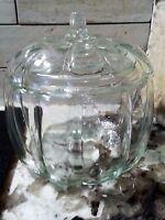 Anchor Hocking Clear Glass Pumpkin Jar Centerpiece Fall Halloween Thanksgiving