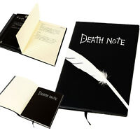 Death Note Cosplay Notebook & Feather Pen Book Japan Anime Writing Journal Gifts