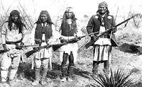 Large  8x13  Photo Apache Warriors Geronimo, Yanozha, Chappo and Fun  1886