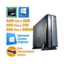 COMPUTER ASSEMBLATO VULTECH AMD PHENOM II X4 850 WINDOWS 10 DESKTOP PC NUOVO-