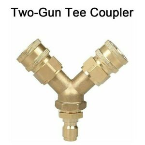 Pressure Washer Tee Splitter Coupler 5000PSI Quick Connect Two To One 4.0 GPM