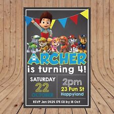 Personalised DIGITAL PAW PATROL Kid Party Birthday Invites Invitations YOU PRINT