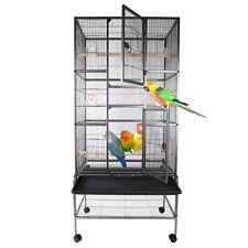 Grande Volière cage à oiseaux canaries perruches perroquets metal d'élevage