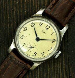 Retro Early ZIM Soviet USSR 1st Mchz Pobeda Mechanical Watch Kirova Wristwatch