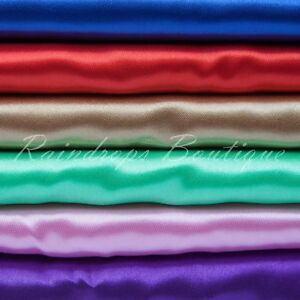 Satin fabric silky shiny polyester per metre excellent quality conforms to EN71