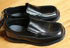 Toddler boy BLACK PATENT FAUX LEATHER FORMAL DRESS Shoes NWT 10 PARTY WEDDING