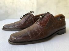 'Walles Club' Made in Italy Genuine Alligator  Slipon Shoes