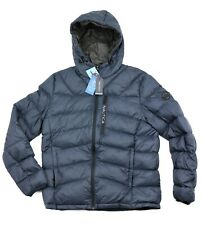 New Nautica Hooded Down Puffer Jacket Dark Navy Color Men's Sizes