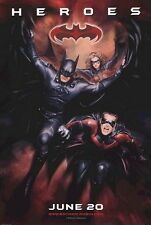 """BATMAN AND ROBIN 1997 Advance Heroes DS 2 Sided 27z40"""" Movie Poster G Clooney"""