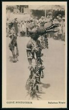 Black Africa Guinea Crocodile Alligator dance Voodoo c1920s postcard size card