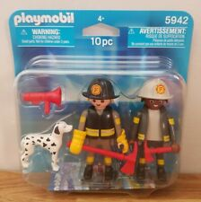 Playmobil 5942 - Fire Fighters and Dog Duo Pack - Figures Accessories 10 Pcs NEW