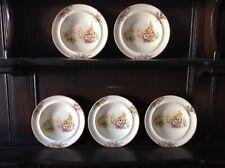 Swinnertons Old England Gardens 1930s vintage Hampton Ivory 5 small bowls 16cm