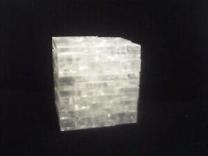vintage square puzzle clear plastic block pieces game 2in block