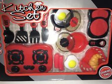 15 Piece Red Kitchen Toy Set