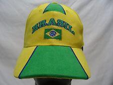 BRASIL - EMBROIDERED - ADJUSTABLE STRAPBACK BALL CAP HAT! (BRAZIL)