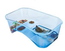 Turtle Tank Aquarium, Turtle Habitat, Reptile Habitat, Turtle basking