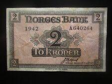 1942 NORWAY 2 KRONER ( LONDON )