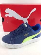 PUMA Junior Peacoat/Blue/Green athletic Kids shoes sz 11.5
