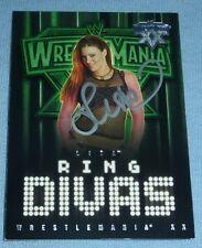 Lita Signed 2004 Fleer Wrestlemania XX WWE Card 60 Autograph Wrestling Ring Diva