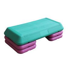 Aerobic Steppbrett Fitness Step Board 72x36cm 3-fach verstellbar grün/lila