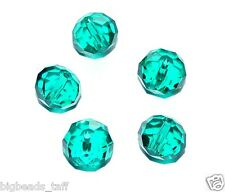 5pcs big sparkly malchite crystal beads 14x11mm