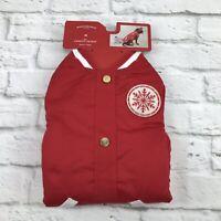 Dog Varsity Jacket Medium Red Dog Snowflake Target Wondershop Pet Costume NEW