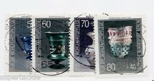 1986 German Occupation Sc 9NB238-41 Θ used. Glassware. Surtax for welfare org