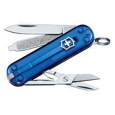 Victorinox Swiss Army Knife Classic SD - Sapphire Translucent - Key Chain Knife