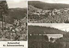 Antonsthal, Anton altezza con neri Berg a Erzgebirge, vecchi DDR-cartolina