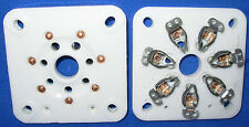 Pair New Ceramic Large 7 pin Vacuum Tube Sockets for 813 4E27 4-125B, etc