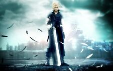 POSTER FINAL FANTASY 7 VII ADVENT CHILDREN CRISIS CORE ZACK FAIR CLOUD STRIFE #6