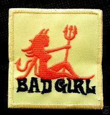 BAD GIRL Devil Diablo Chica PUNK Falda Parche Planchar Parche Parche