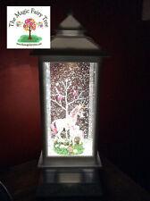 White LED lantern glitter unicorn foal water ball snow globe light night lamp