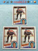 1984 Topps #51 WAYNE GRETZKY Vintage Lot x 3 | Edmonton Oilers | Nice HOF Batch