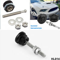 23mm 4 Piece Car Aluminum Alloy Black Multi-purpose Button Release Latch Lock