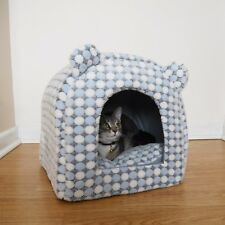 Rosewood Christmas Cat Luxury Snowflake Snuggle Bed Igloo Cave Cosy Plush Soft
