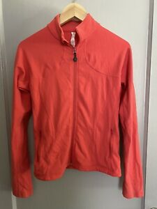Lululemon Womens Athletic Zip Up Fitted Jacket Solid Coral Size 8