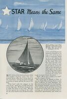 1937 Magazine Article Racing Star Class Yachts Sailing Boating Boats Sailors