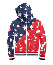 NWT Polo Ralph Lauren Team USA 2018 Winter Olympics Star Camo Jacket Hoodie M
