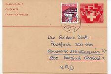 Suiza Entero Postal circulado año 1981 (DI-731)