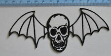 10198 Avenged Sevenfold Death Skull Bat Rock  Iron-on Embroidered Patch