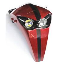 Universal Motorcycle LED Headlight Fairing 12V Skeleton Skull Headlamp Custom