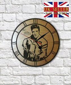 Elvis Presley engraved on Wall Clock