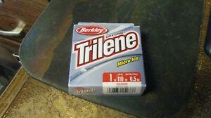 "Berkley Trilene ""micro ice"" line, 110 yards, red,  1# test,  free shipping"