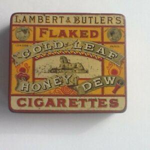 Rare Lambert and Butler Gold Flake Honey Dew cigarette tin
