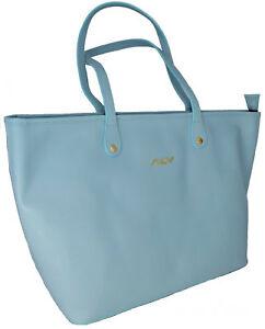 Borsa Spalla Donna Azzurra Alv By Alviero Martini Shopping Bag Light Blue Woman