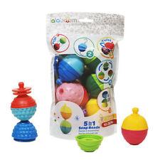 12PCS Unique Textures Vibrant Colours BPA Free Lalaboom Beads and Accessories